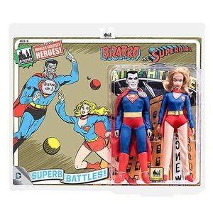 スーパーマン Superman 可動式フィギュア Bizarro vs. Supergirl 8-Inch Action Figure Set|fermart-hobby