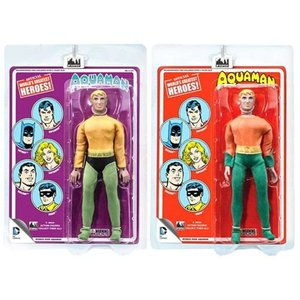 アクアマン Aquaman 可動式フィギュア DC Comics Retro Mego Style Action Figure Set|fermart-hobby