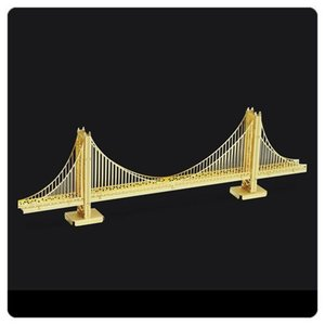 ランドマーク Landmarks プラモデル Golden Gate Bridge Gold Version Metal Earth Model Kit|fermart-hobby