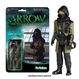 グリーンアロウ Green Arrow 可動式フィギュア Arrow Dark Archer ReAction 3 3/4-Inch Retro Action Figure|fermart-hobby