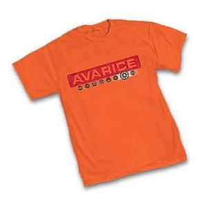 グリーンランタン グラフィティーデザインズ Graphitti Designs Green Lantern Orange Lantern Avarice T-Shirt|fermart-hobby