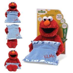 セサミストリート Sesame Street ぬいぐるみ・人形 Peek-A-Boo Elmo Moving and Talking Plush|fermart-hobby
