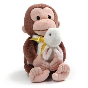 おさるのジョージ Curious George ぬいぐるみ・人形 Holding Bunny 10-Inch Plush fermart-hobby
