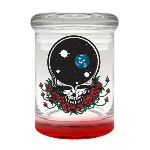 グレイトフル デッド ジェストファンキー Just Funky Grateful Dead Steal Your Face 6 oz. Clear Apothecary Jar|fermart-hobby