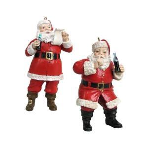 コカ コーラ カートS アンダー Kurt S. Adler Coca-Cola Santa 4 3/4-Inch Holiday Ornament Set|fermart-hobby