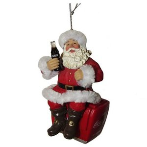 コカ コーラ Coca-Cola グッズ Santa On Cooler 4-Inch Ornament|fermart-hobby