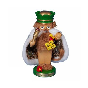 オズの魔法使い The Wizard of Oz Cowardly Lion Chubby Oz 11-Inch Nutcracker                - Free Shipping|fermart-hobby