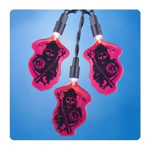 サンズ オブ アナーキー カートS アンダー Kurt S. Adler Sons of Anarchy Grim Reaper Red Christmas Lights|fermart-hobby
