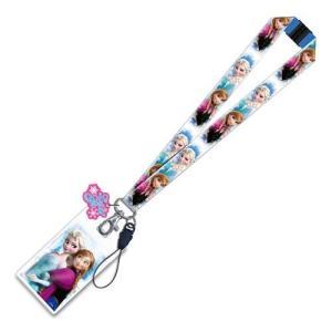 アナと雪の女王 アナ雪 モノグラム Monogram Disney Frozen Elsa and Anna Lanyard Key Chain with ID Holder|fermart-hobby