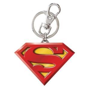 スーパーマン モノグラム Monogram Superman Logo Colored Pewter Key Chain fermart-hobby