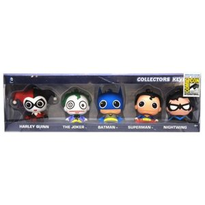 DCコミックス モノグラム Monogram DC Comics 3D Foam Key Chain Collector 5-Pack - San Diego Comic-Con 2015 Exclusive|fermart-hobby