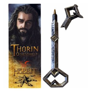 ロード オブ ザ リング ノーブルコレクション Noble Collection The Hobbit Movie Trilogy Thorin Oakenshild Key Pen and Bookmark Set|fermart-hobby
