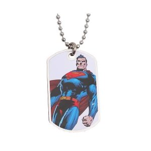 スーパーマン ノーブルコレクション Noble Collection Superman Standing White Dog Tag Necklace fermart-hobby