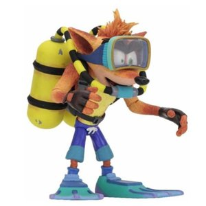 クラッシュ バンディクー Crash Bandicoot 可動式フィギュア Warped Scuba Crash Deluxe Action Figure|fermart-hobby