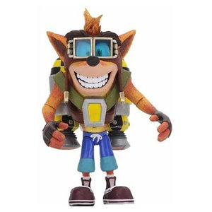 クラッシュ バンディクー Crash Bandicoot 可動式フィギュア Deluxe Crash with Jetpack Action Figure|fermart-hobby