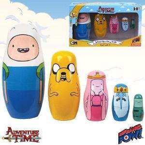 アドベンチャー タイム ビフバンパウ Bif Bang Pow! Adventure Time Wood Nesting Dolls Set of 5, Not Mint|fermart-hobby
