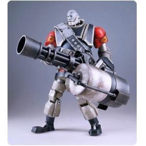 チーム フォートレス スリーエー スリーA ThreeA Team Fortress 2 RED Robot Heavy Action Figure, Not Mint|fermart-hobby