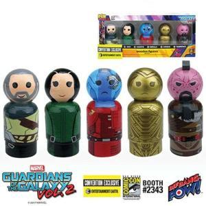 ガーディアンズ オブ ギャラクシー Guardians of the Galaxy フィギュア Vol. 2 Icons Pin Mate Wooden Figure Set of 5 - Convention Exclusive|fermart-hobby