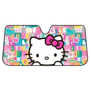 ハローキティ Hello Kitty グッズ Tile Art Accordion Bubble Sunshade|fermart-hobby