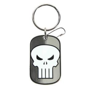 パニッシャー プラスティッカラー Plasticolor Punisher Tag Marvel Enamel Key Chain|fermart-hobby