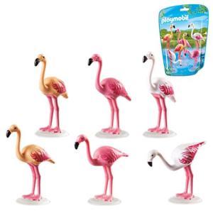 アニマルズ Animals フィギュア 6651 Flock of Flamingos|fermart-hobby