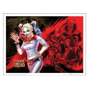 スーサイド スクワッド クァンタムメカニクス Quantum Mechanix Suicide Squad Harley's Heroes Art Print|fermart-hobby
