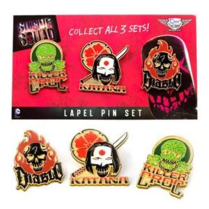 スーサイド スクワッド クァンタムメカニクス Quantum Mechanix Suicide Squad Lapel Pin Set 2|fermart-hobby
