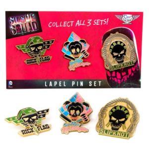 スーサイド スクワッド クァンタムメカニクス Quantum Mechanix Suicide Squad Lapel Pin Set 3|fermart-hobby