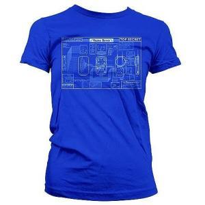 ウェアハウス13 クァンタムメカニクス Quantum Mechanix Warehouse 13 Farnsworth Blueprint Juniors Shirt|fermart-hobby