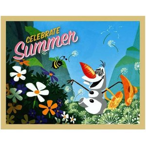 アナと雪の女王 アナ雪 アーティッシモ Artissimo Disney Frozen Olaf Celebrate Summer Large Stretched Canvas Print|fermart-hobby
