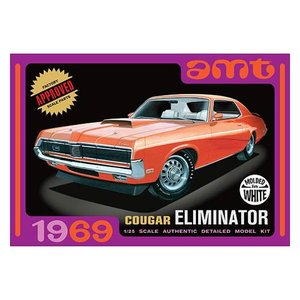 クラッシックカー Classic Cars プラモデル 1969 Mercury Cougar Eliminator White Model Kit|fermart-hobby