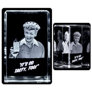 アイ ラブ ルーシー ロイヤルバブルス Royal Bobbles I Love Lucy Vitameatavegamin Small 3D Laser Crystal|fermart-hobby