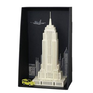 ランドマーク Landmarks グッズ Empire State Building Paper Nano Model Kit|fermart-hobby