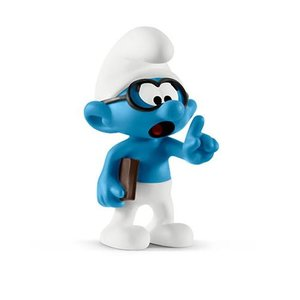 スマーフ Smurfs フィギュア Brainy Smurf Collectible Figure|fermart-hobby