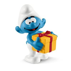 スマーフ Smurfs フィギュア Jokey with Present Collectible Figure|fermart-hobby