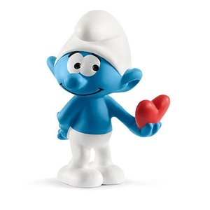 スマーフ Smurfs フィギュア Smurf with Heart Collectible Figure|fermart-hobby