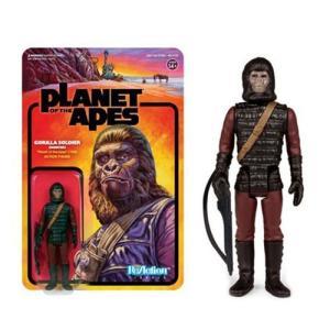 猿の惑星 Planet of the Apes 可動式フィギュア Gorilla Soldier Hunter ReAction Figure|fermart-hobby