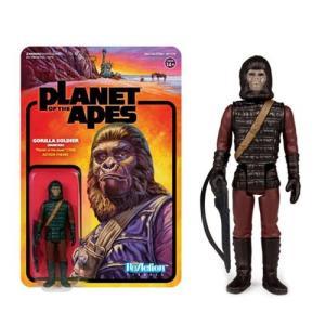 猿の惑星 Planet of the Apes 可動式フィギュア Gorilla Soldier Patrolman ReAction Figure|fermart-hobby