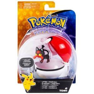 ポケットモンスター Pokemon フィギュア Clip n Carry Pokeball Litten & Poke Ball Figure Set|fermart-hobby