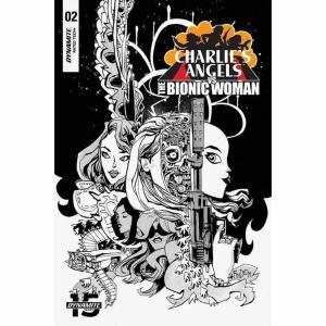 コミック/本 Comic Books 本・雑誌 漫画 Charlie's Angels Vs Bionic Woman #2 Comic Book [Jim Mahfood Black & White Variant Cover] fermart-hobby