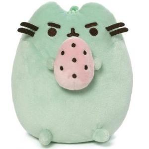 プシーン Pusheen ぬいぐるみ・人形 osaurus 6-Inch Plush [Green, Standing Holding Pink Egg]|fermart-hobby