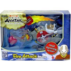 アバター Avatar マテル Mattel Toys フィギュア おもちゃ the Last Airbender Fire Attack Rhino|fermart-hobby
