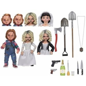 ホラー Horror フィギュア Child's Play Chucky & Tiffany Action Figure 2-Pack [Ultimate Version]|fermart-hobby