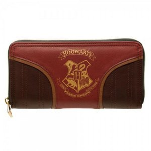 ハリー ポッター Harry Potter バイオワールド Bioworld ユニセックス 財布 Hogwarts Crest Zip Around Wallet|fermart-hobby