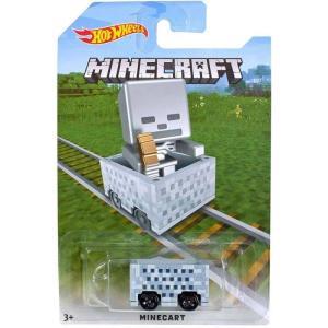 マインクラフト Minecraft おもちゃ・ホビー Hot Wheels Minecart Die-Cast Car [Skeleton]|fermart-hobby
