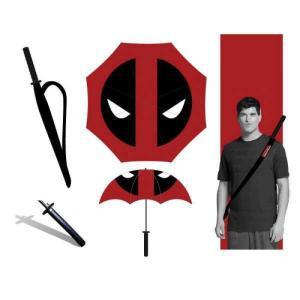 デッドプール Deadpool バイオワールド Bioworld ユニセックス 傘 Marvel Katana Umbrella Apparel|fermart-hobby