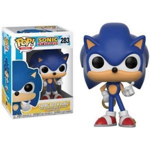ソニック ザ ヘッジホッグ Sonic The Hedgehog フィギュア ビニールフィギュア POP! Games Sonic with Ring Vinyl Figure|fermart-hobby