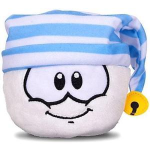 クラブ ペンギン Club Penguin ぬいぐるみ・人形 ぬいぐるみ Series 11 White Puffle 4-Inch Plush [Striped Hat]|fermart-hobby