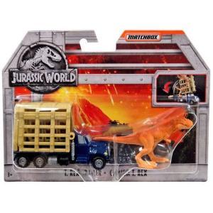 マッチボックス Matchbox おもちゃ・ホビー Jurassic World T. Rex Trailer Diecast Vehicle|fermart-hobby