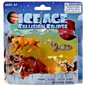アイス エイジ Ice Age フィギュア 4点セット Collision Course Manny, Diego, Sid & Scrat Mini Figure 4-Pack|fermart-hobby